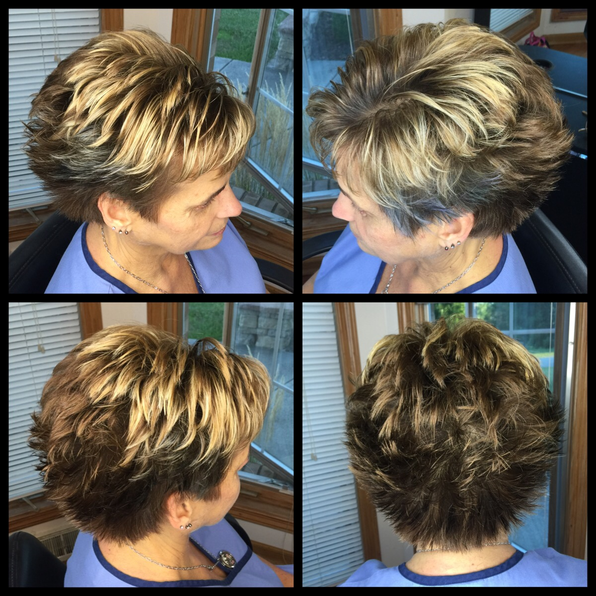 Short N Sassy Spikey Short Hair Cut In Light Chocolate